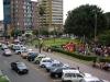 Der Blick aus unserem Hostelfenster auf den Parque Central
